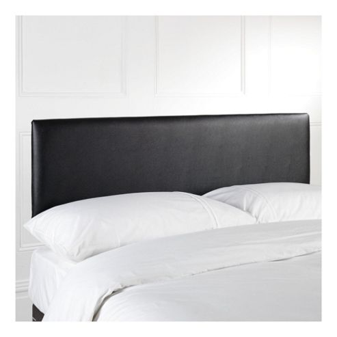 Seetall Mittal Double Faux Leather Headboard, Black