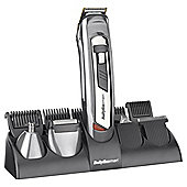 BaByliss 7235U Mens 10 in 1 Hair, Face and Body Grooming Trimmer - Silver