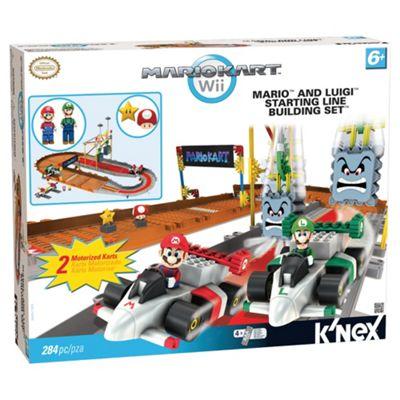 Knex Mario Kart Wii Mario and Luigi At The Starting Line Set