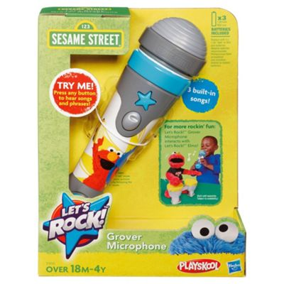 Sesame Street Lets Rock Grovers Mic