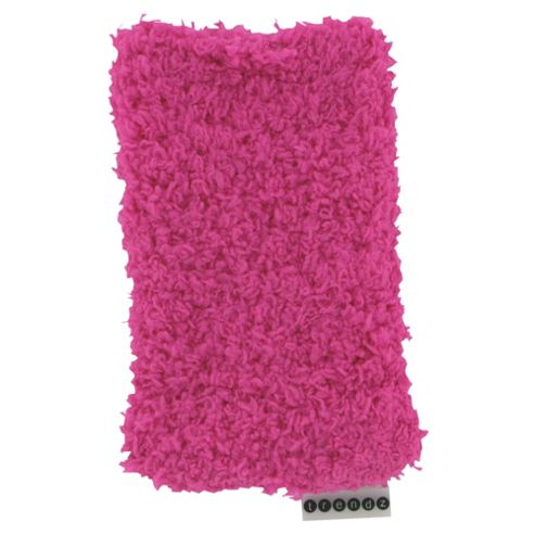 Trendz Fabric Sock for Universal Smartphone Devices - Fluffy Pink