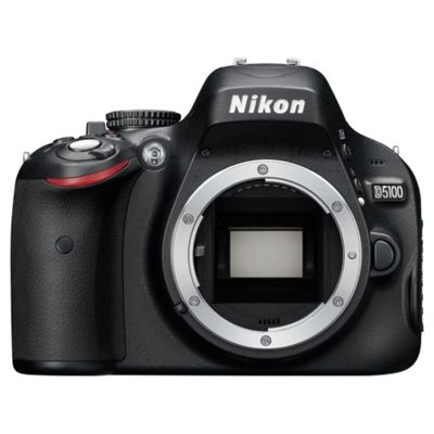 Nikon D5100 Digital SLR Camera, Black, 16.2MP,  3