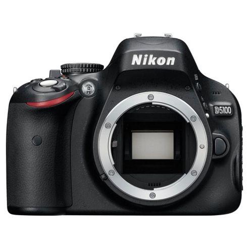 Nikon D5100 Digital SLR Camera, Black, 16.2MP,  3