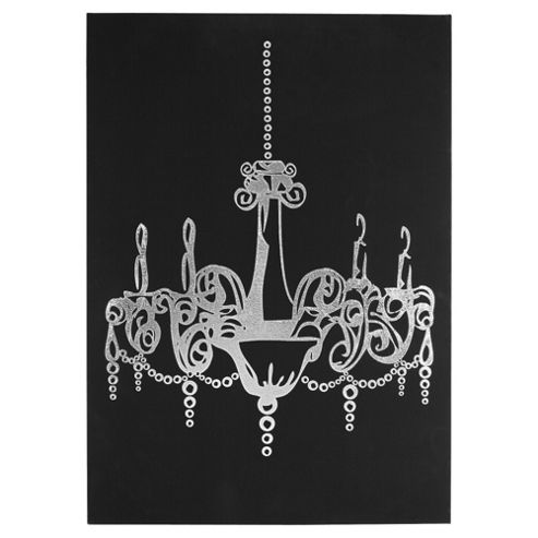Suede effect Chandelier picture