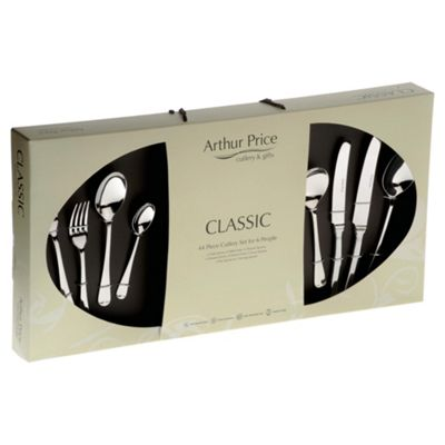 Arthur Price Classic Rattail 44 piece, 6 Person Boxed Cutlery Set