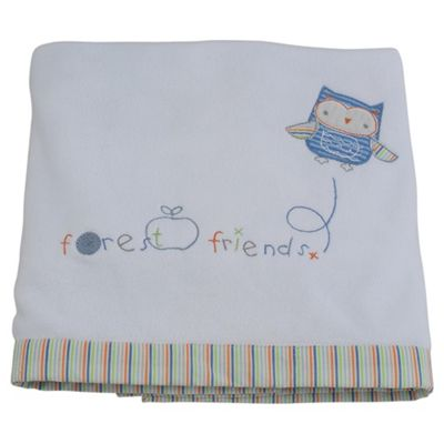 Tesco Fleece Blanket, Forest Friends