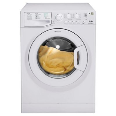 Hotpoint WMAL621P Washing Machine, 6kg Wash Load, 1200 RPM Spin, A+ Energy Rating. White
