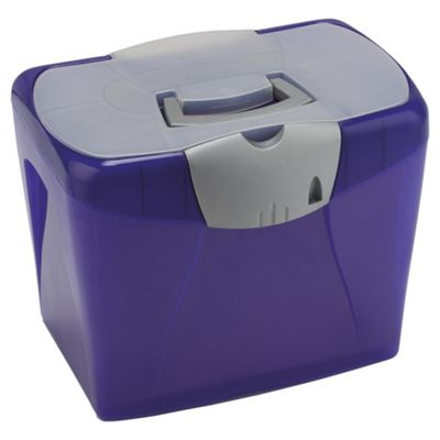 Pierre Henry A4 Horizon Plastic Box File, Purple
