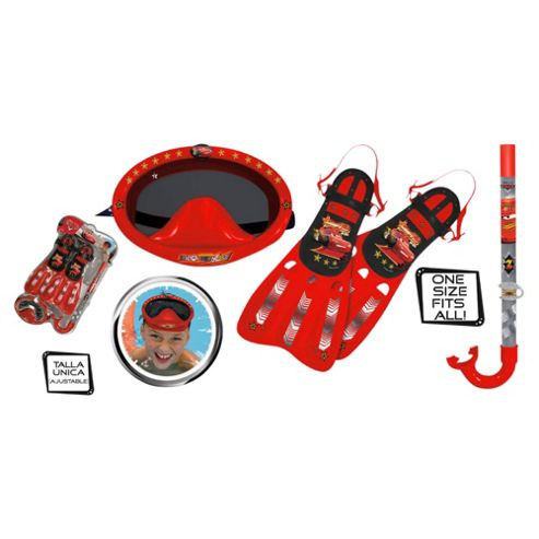 Disney Cars Snorkel, Mask & Flipper Set