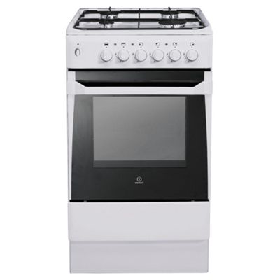 Indesit IS50GW Gas Cooker With Single Cavity Combined Grill and Continental style gas oven