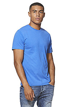 F&F Marl Crew Neck T-Shirt with As New Technology - Cobalt