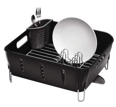 simplehuman Compact Dish Rack - Black
