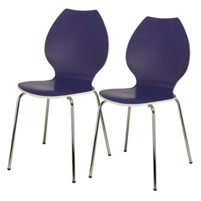 Candy Pair Of Chairs White / Purple