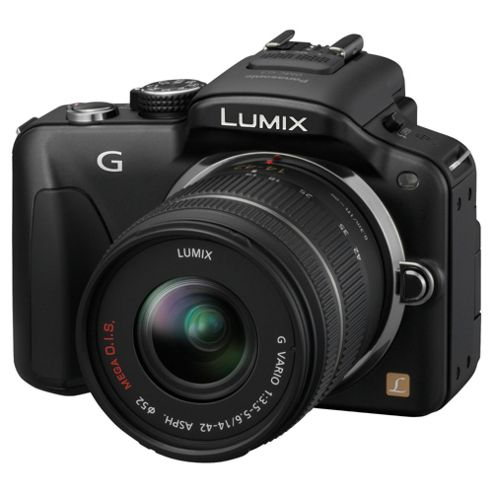 Panasonic G3 compact system camera black, with 14-42mm lens