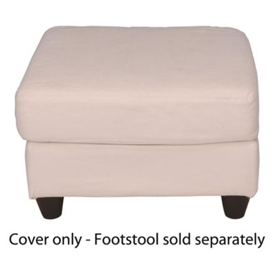 Ashley Loose Cover For Footstool, Natural