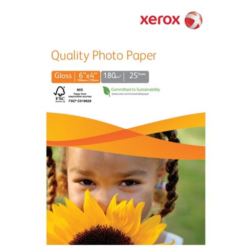 Xerox Quality 180gsm 6x4 Photo Paper- 25 sheets