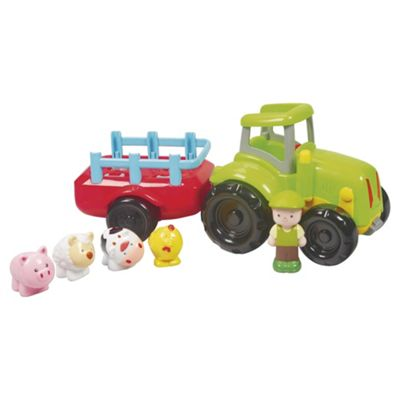 Carousel Tractor & Trailer Toy