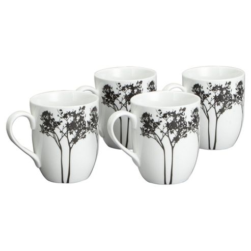 Tesco Shadow Tree Set of 4 Mugs
