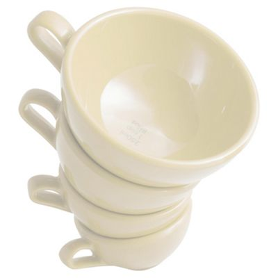 Nigella Lawson Set of 4 Melamine Measuring Cups, Cream