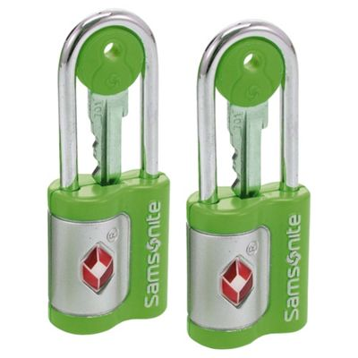 Samsonite TSA Air Key Locks, Green set of 2