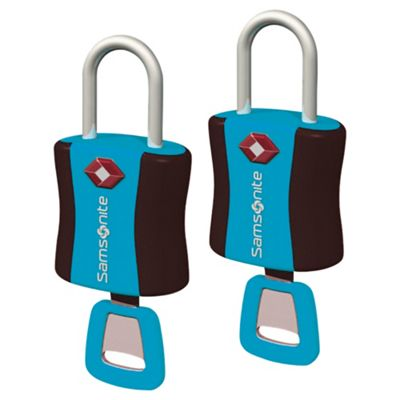 Samsonite TSA Air Key Locks, Blue Set of 2