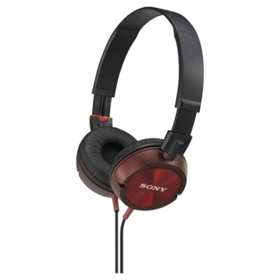 Sony MDR-ZX300 Overhead Headphones - Red