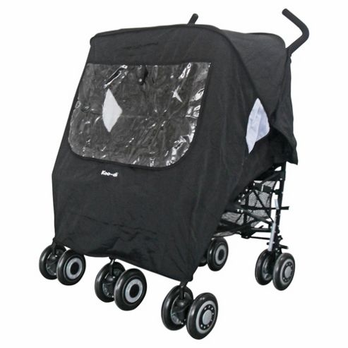 Koo-di Pack it Rain Cover Twin, Black