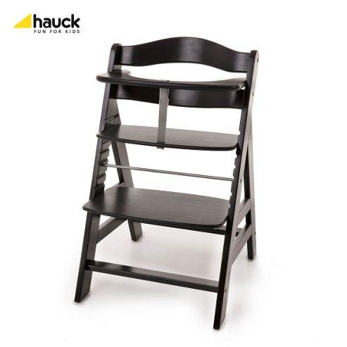 Hauck Alpha Wooden Highchair - Blackwashed