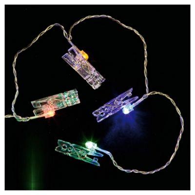 Low voltage washing line peg lights
