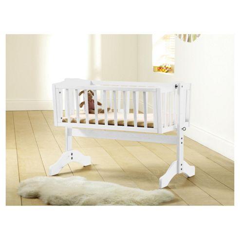 Saplings Bethany Crib with Mattress, White