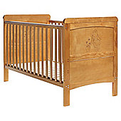 Obaby Winnie the Pooh Deluxe Cot Bed in Country Pine