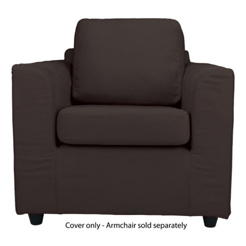 Ashley Loose Cover For Armchair, Chocolate