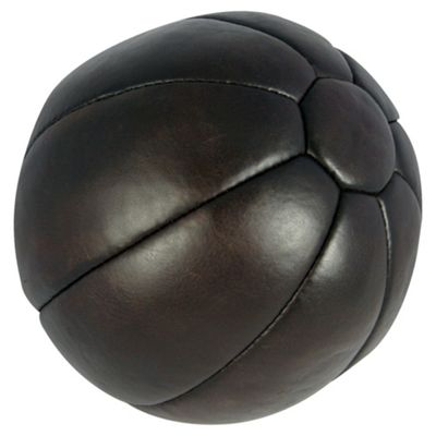 Gold's Gym Heritage 5Kg Leather Medicine Ball