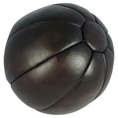 Gold's Gym Heritage 5Kg Leather Medicine Ball