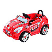 Homcom Kids Electric Ride On 6V Battery Operated Toy Car w/ Seat Belt Red