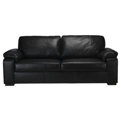 Ashmore Large Leather Sofa, Black