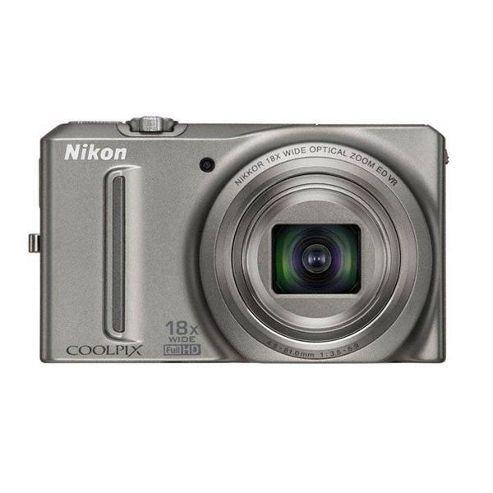 Nikon Coolpix S9100 Digital Camera (Silver)