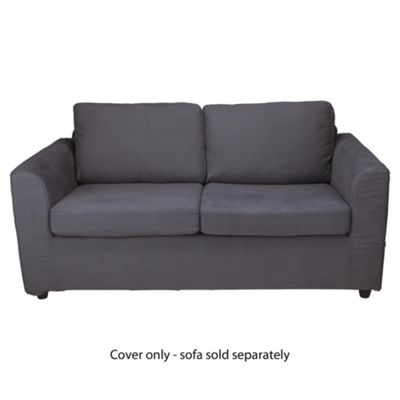 Ashley Loose Cover For Medium Sofa, Charcoal