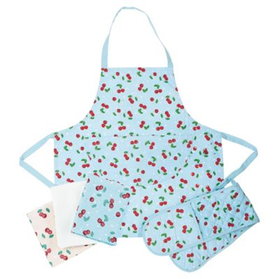 Tesco Cherry 3 piece Kitchen Textile Set