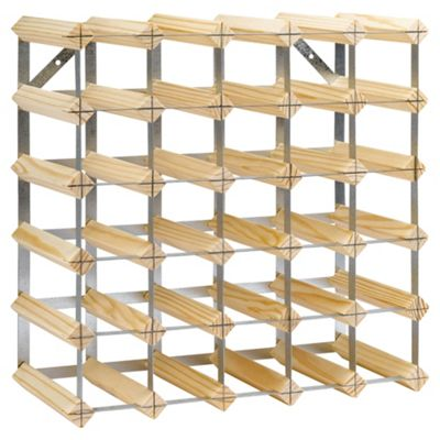 Ready To Assemble 30 Bottle Wine rack Kit, Natural Pine