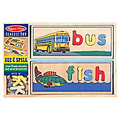Melissa & Doug See and Spell Wooden Educational Game