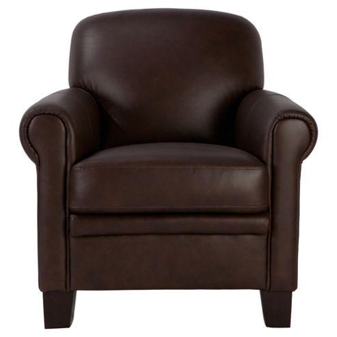 Maurice Leather Club Chair, Chocolate