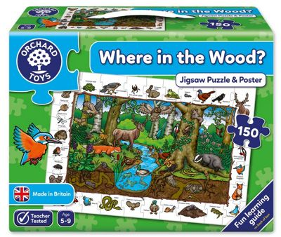 Orchard Toys Where In The Wood 150-Piece Jigsaw Puzzle