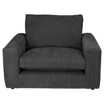 Valentino Snuggler Chair, Charcoal
