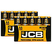 20 x JCB AA 1.5V Professional Super Alkaline Industrial Batteries LR6