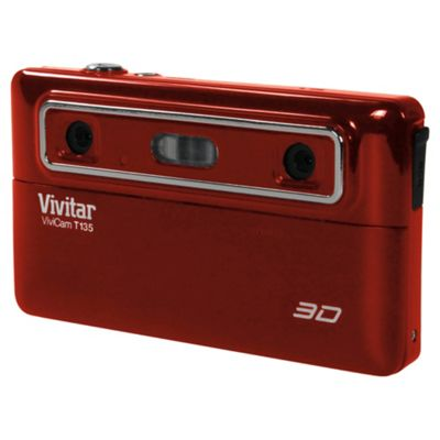 Vivitar T135 Digital Camera, Red, 12.1MP,7.1x Optical Zoom, 2.4