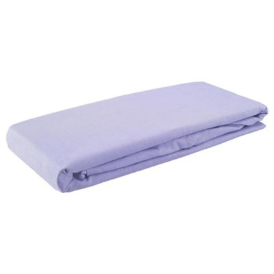 Tesco Kids Single Fitted Sheet - Lilac Twinpack