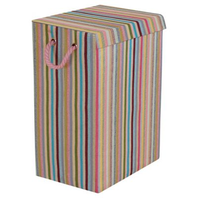 Minky Foldable Laundry Basket, Stripes
