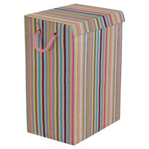 Minky Foldable Laundry Basket, Stripes