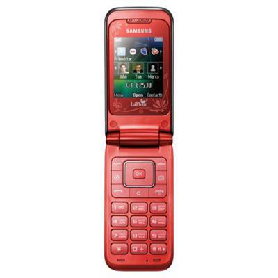 Tesco Mobile Samsung E2530 Ivy La Fleur Red